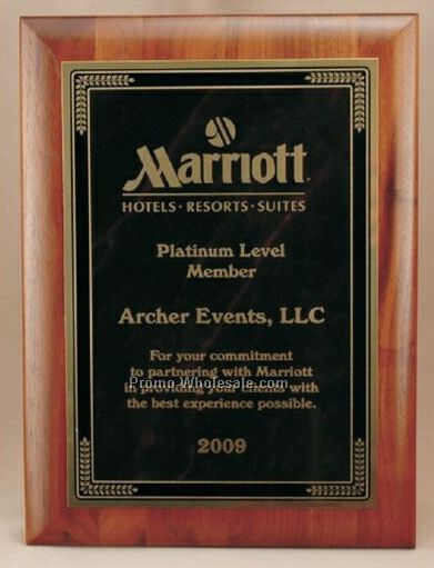 "Rectangle Solid Walnut Wood Plaque (9""x12"")"
