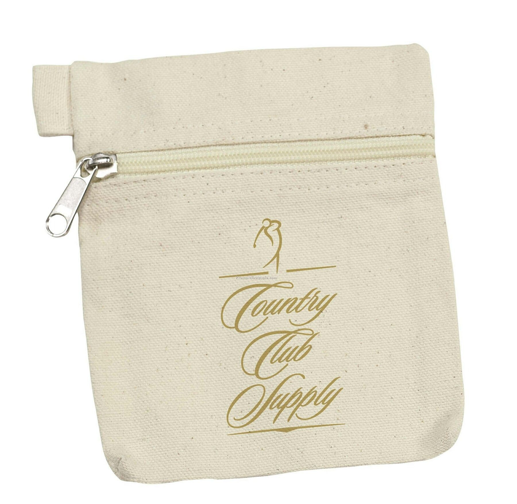 Tee Off Medium Organic Cotton Pouch