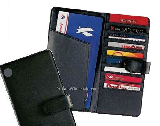 Top Grain Leather Document Holder With Snap