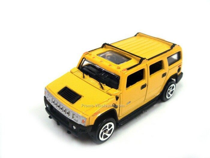 Yellow H2 Hummer Die Cast Mini Vehicle