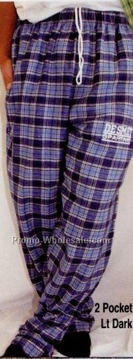 Youth Plaid Flannel Pocket Pants (Xs-l)