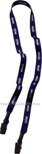 "1/2"" Dye Sublimated Double Bulldog Clip Lanyard"