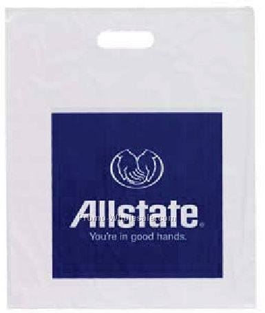 "15""x18"" 1-3/4 Mil. Econo Tote Bag W/ Die Cut Handle"