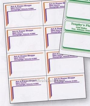 "2-3/4""x4-1/4"" Laser Sheet Labels (1 Color)"