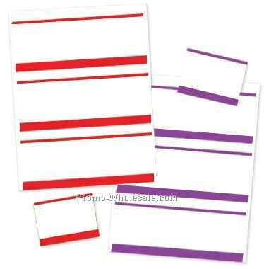 "4""x3"" Stick-on Color Bar Nametags"
