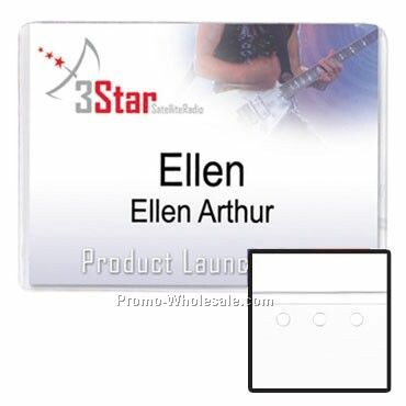 "4""x3"" Vinyl Nametag Holder No Attachment"