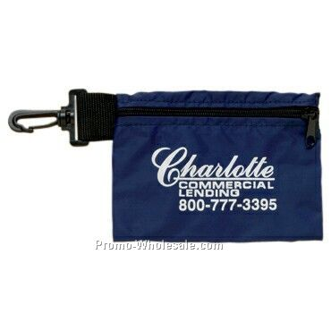 "7"" X 5"" Clip On Valuables Pouch"