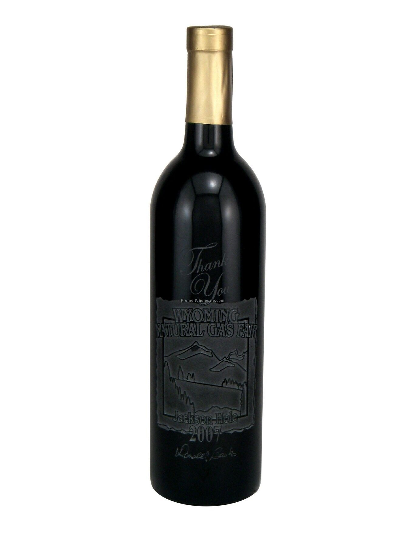 750 Ml Custom Etched Cabernet Sauvignon Woodbridge, Ca, Just Etch