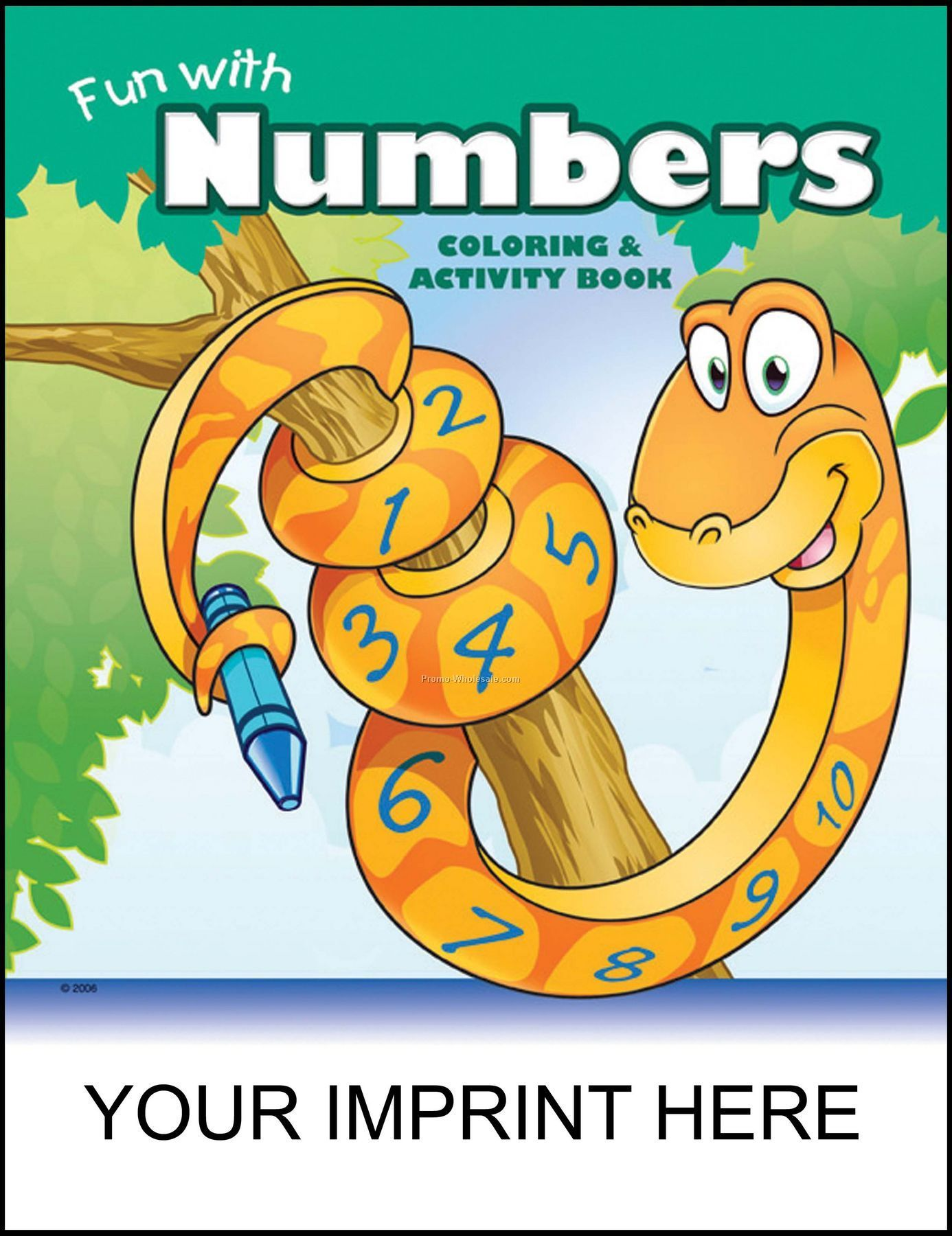 "8-3/8""x10-7/8"" Fun With Numbers Coloring & Activity Book"