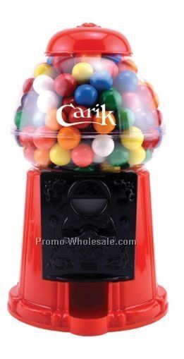 "9"" Plastic Gumball Machine W/ Jelly Beans (2 Day Service)"