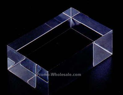 "Acrylic Specialty Base (Large Block) 2""x2""x4"""