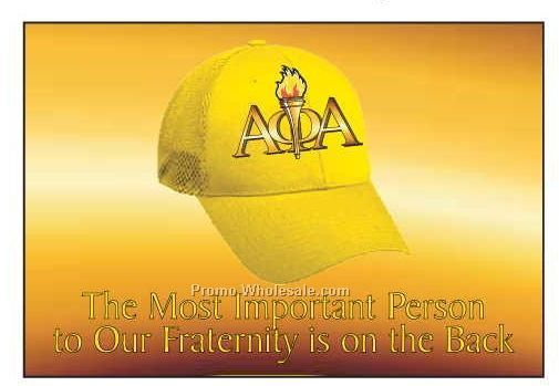 "Alpha Phi Alpha Fraternity Hat Photo Hand Mirror (3-1/8""x2-1/8"")"