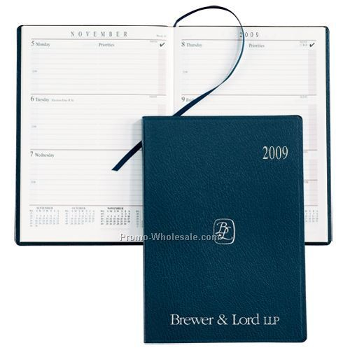 Burgundy Sun Graphix Skivertex Portable Desk Planner (White Paper)
