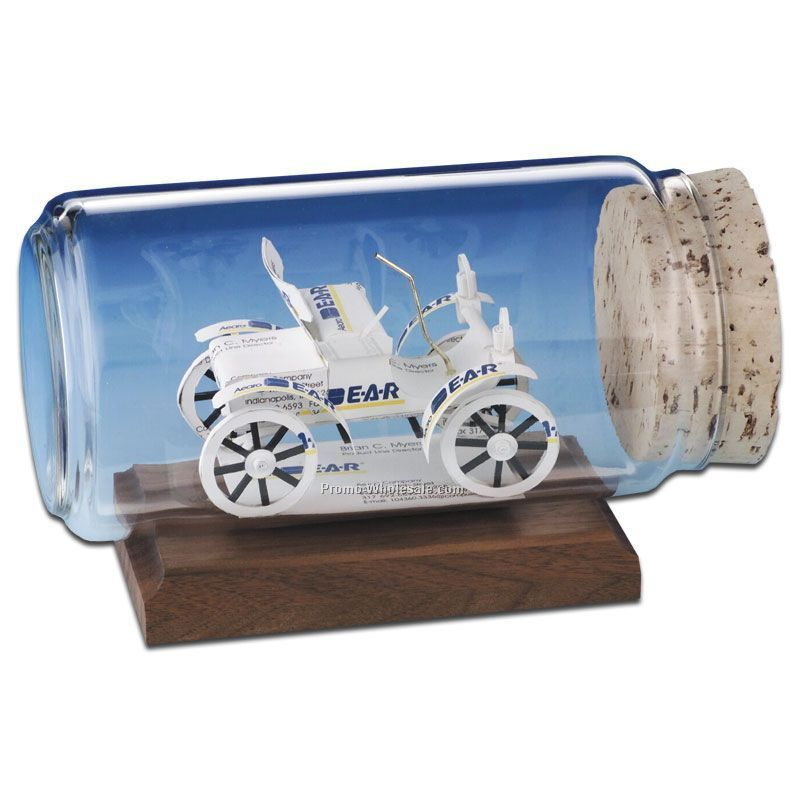Business Card In A Bottle Sculpture - 1904 Oldsmobile