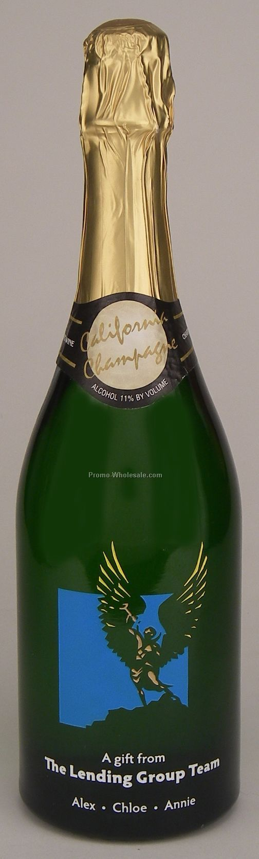 California Sparkling Wine, 750 Ml, 1 Deep Hand-etch, 4 Paint Fills
