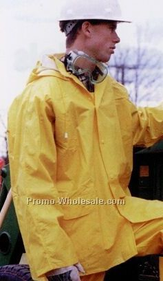 "Full Length 49"" Long Yellow Raincoat With Detachable Hood (S-2xl)"