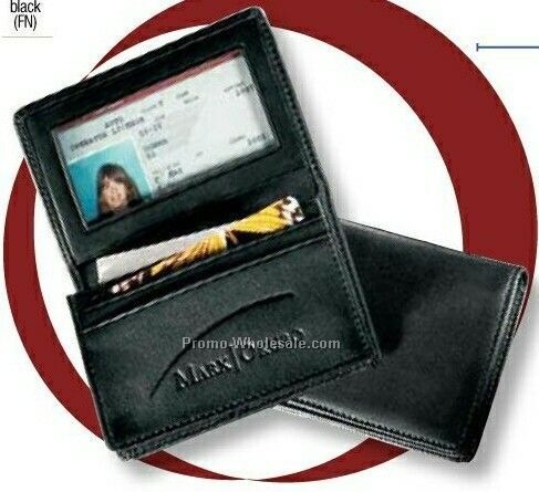 Genuine Leather Deluxe Gusseted Business Card Case