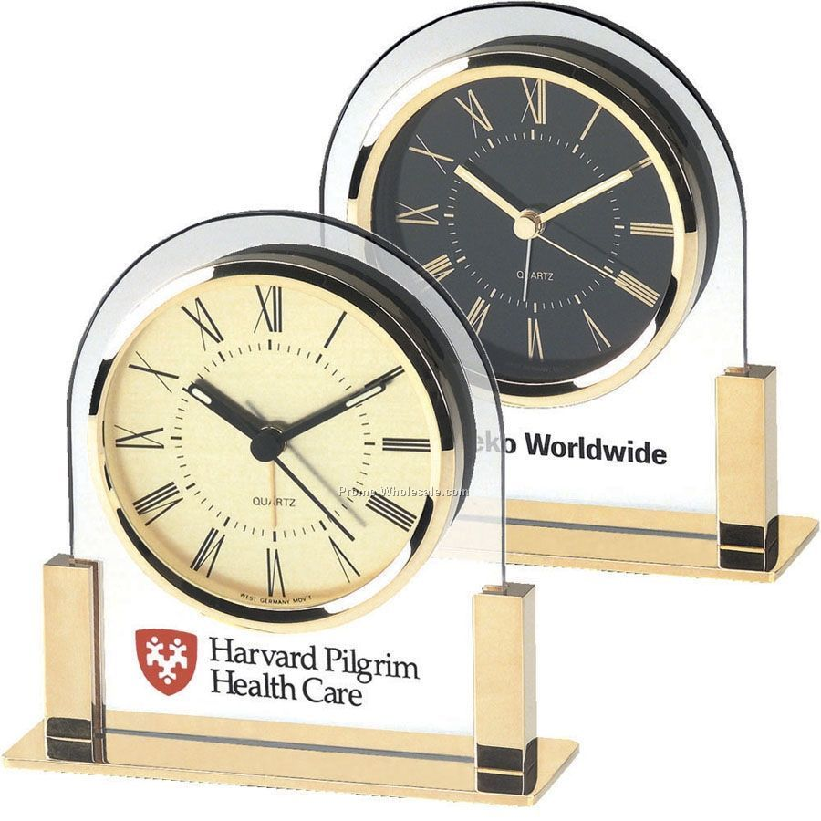 Gold Dial Acrylic & Gold Finish Alarm Clock