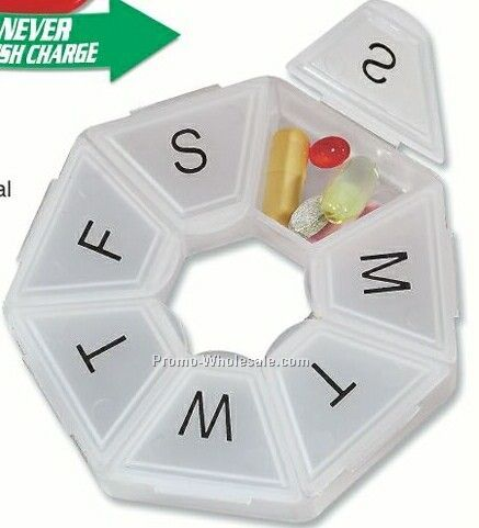 Heptagon Shape 7-day Pill Box