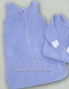 Jersey Sweatshirt Fleece Baby Snuggle Sack With Zipper (No Sleeves)