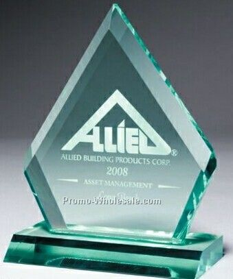 Multi Faceted Jade Green Acrylic Ruby Award (Laser Engraved)