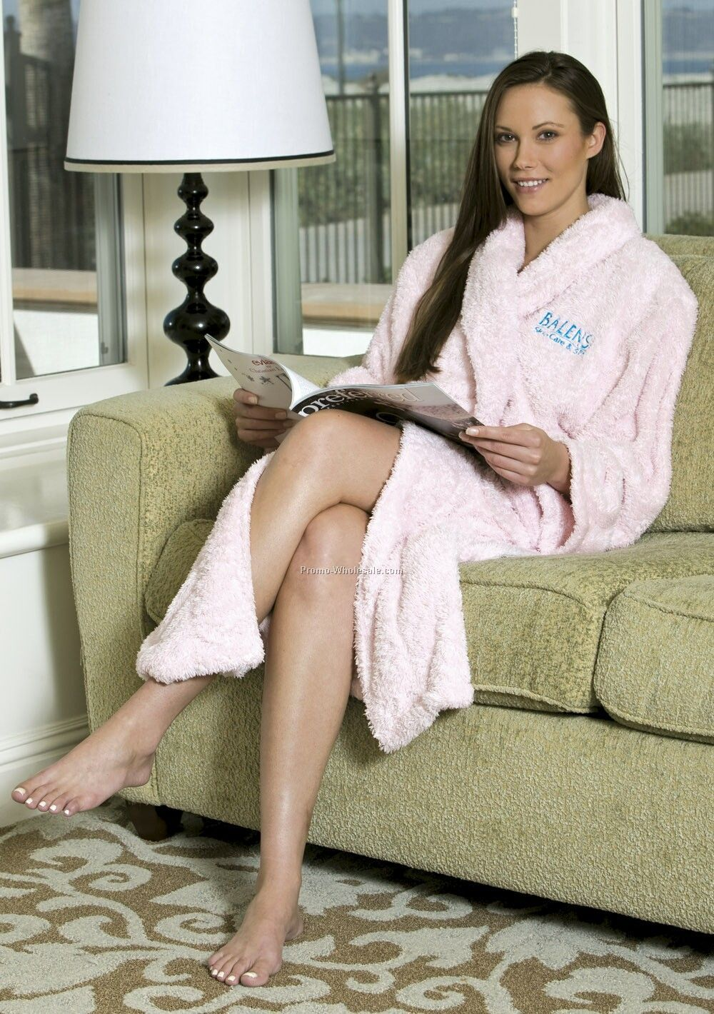 Nordic Chenille Shawl Collar Robe - 1 Size (Blank) Colors