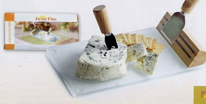 Picnic Plus Geneva Cheese Board W/ 2 Stainless Steel Tools