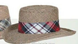 Plaid Hatband