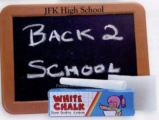 Plastic Blackboard W/ 2 Pieces Of Chalk & Foam Eraser