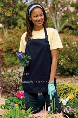 Port Authority Medium Length Apron W/ Pouch Pockets