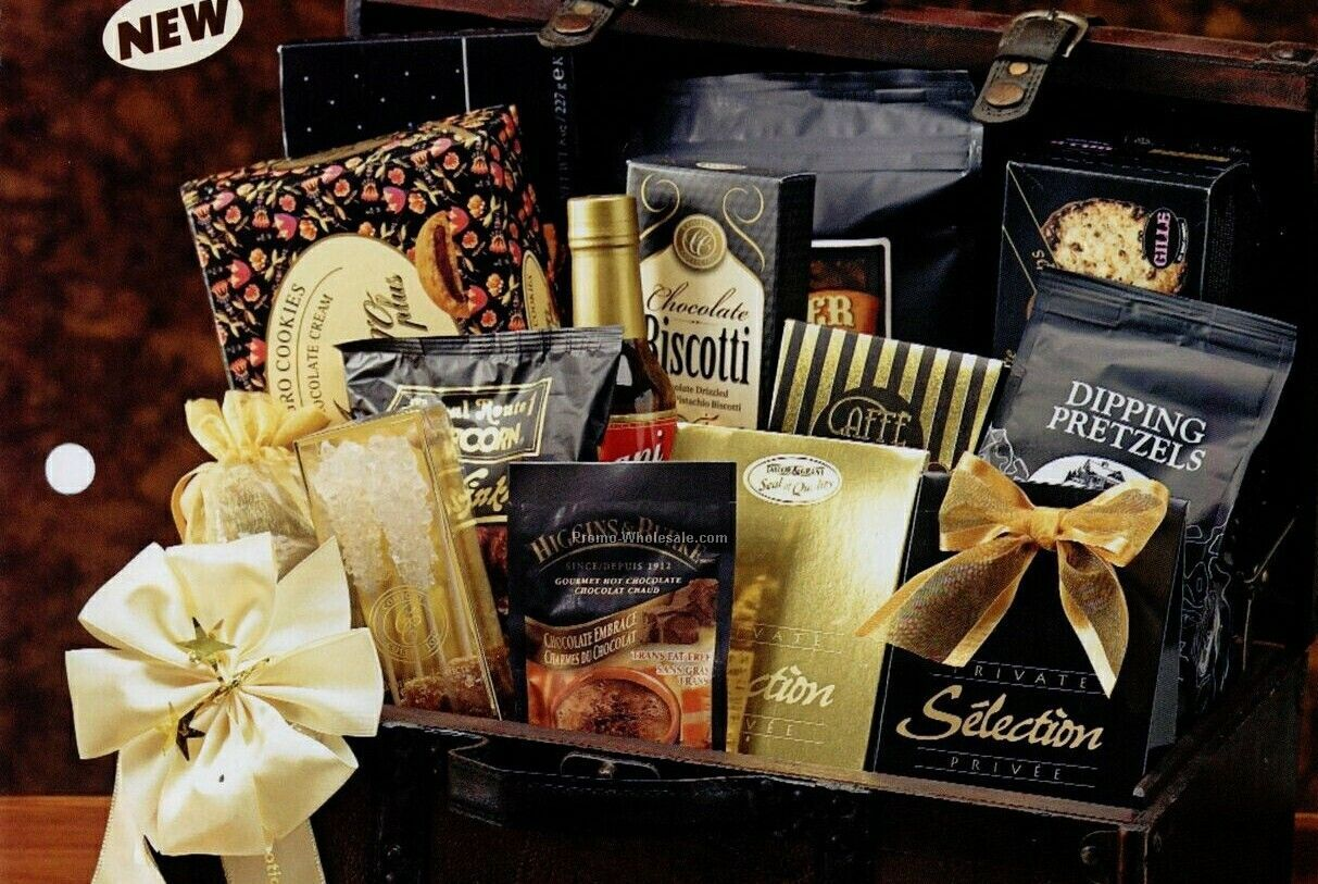 Precious Cargo Gift Basket W/ Stock Imprinted Ribbon