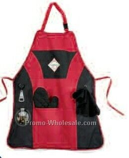 Red Grill Master Apron Kit