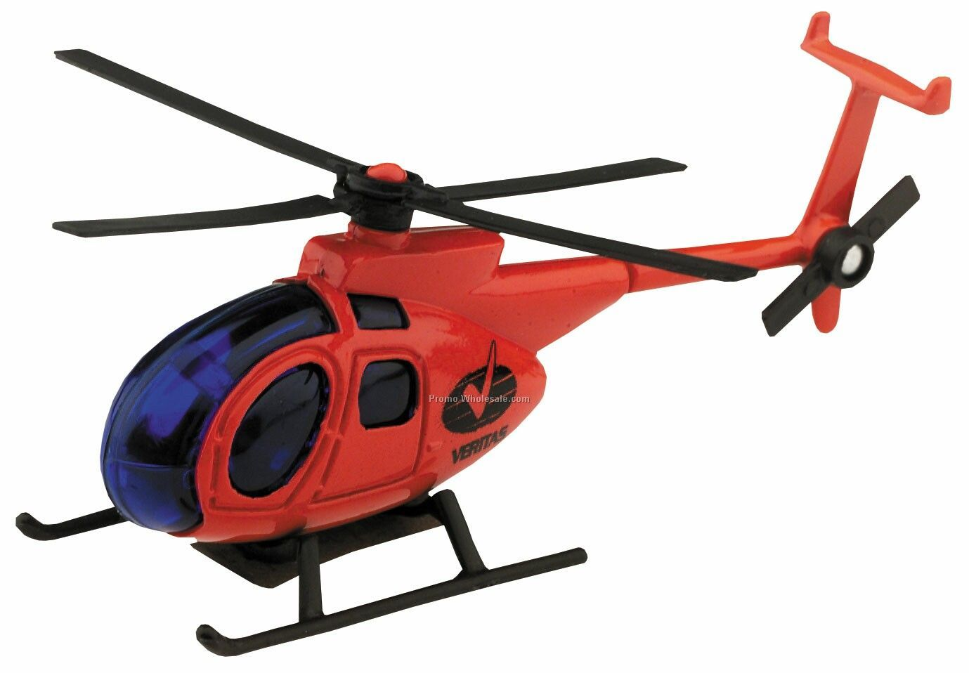 Red Hughes 500 Helicopter Die Cast Mini Vehicles - 3 Day