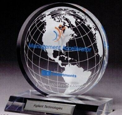 Small Clear Globe Award (Laser Engraved)