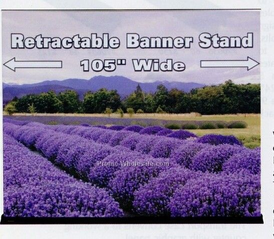 "Standard Retractable Banner Stand - 105.51""x83.07"""