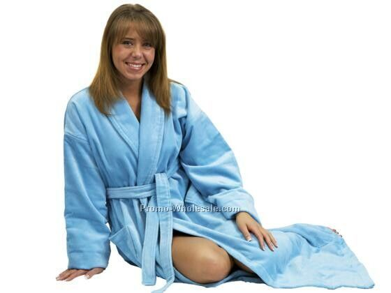 The Beau Monde White Velour Bathrobe (Blank)