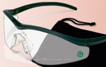Triwear Safety Glasses W/ 150 Degrees Of Clear Vision - Silver Mirror Lens