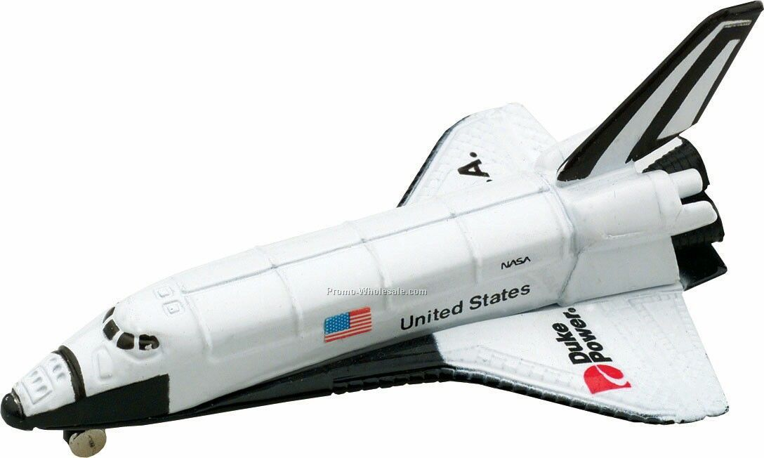 White Space Shuttle Die Cast Mini Vehicles