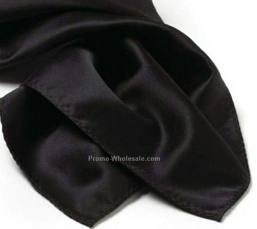 Wolfmark Black Solid Series Polyester Scarf