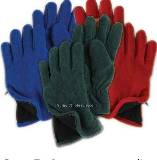 Wolfmark Charcoal Fleece Zipper Glove