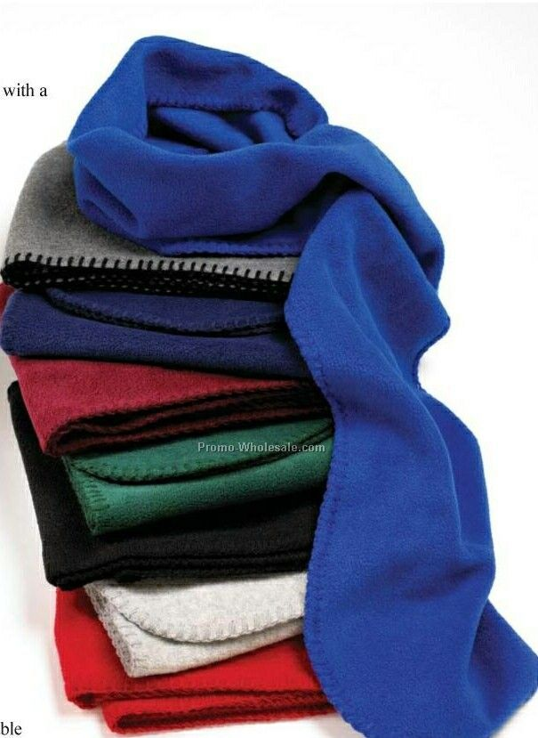 Wolfmark Navy Blue Fleece Neck Scarf