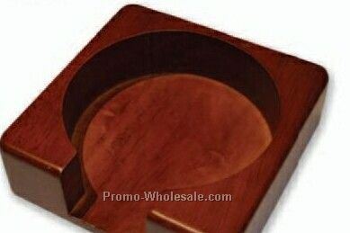 Wood Coaster Holder (Holds 4 Coasters)