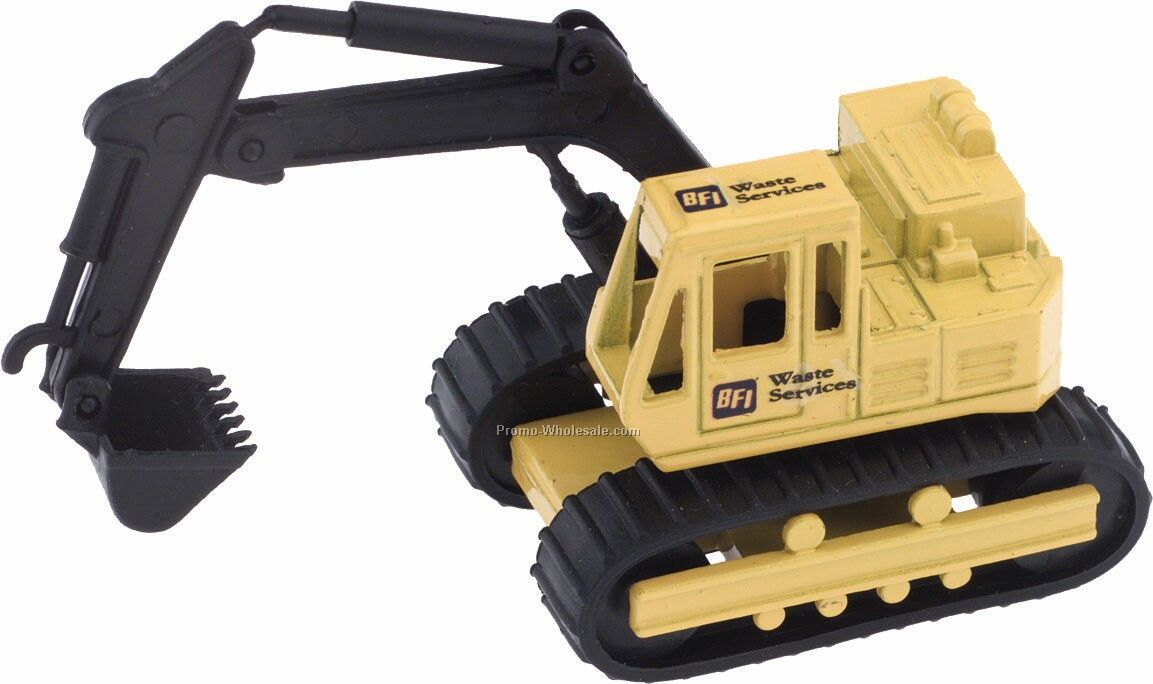 Yellow Backhoe Die Cast Mini Vehicles - 3 Day