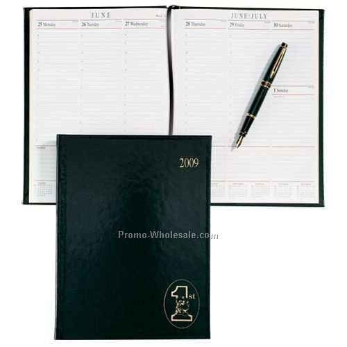 "10""x7-1/2"" Green Sun Graphix Skivertex Desk Planner"