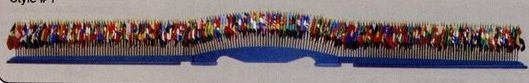 "139-1/2"" Blue Wood Table Bases For 4""x6"" Or 8""x12"" Mounted Flags (195)"