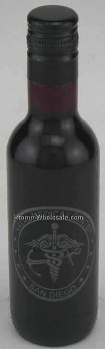 187 Ml Custom Etched Cabernet Sauvignon Woodbridge, Ca No Color Fill