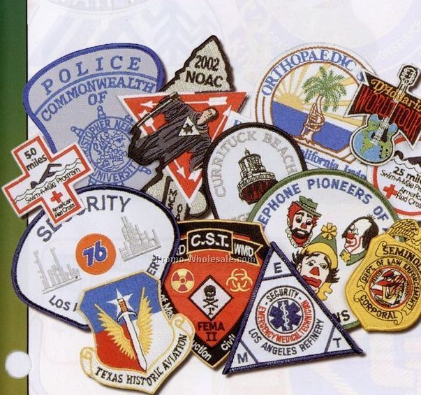"2-1/2"" 70% Coverage Custom Embroidered Patches"