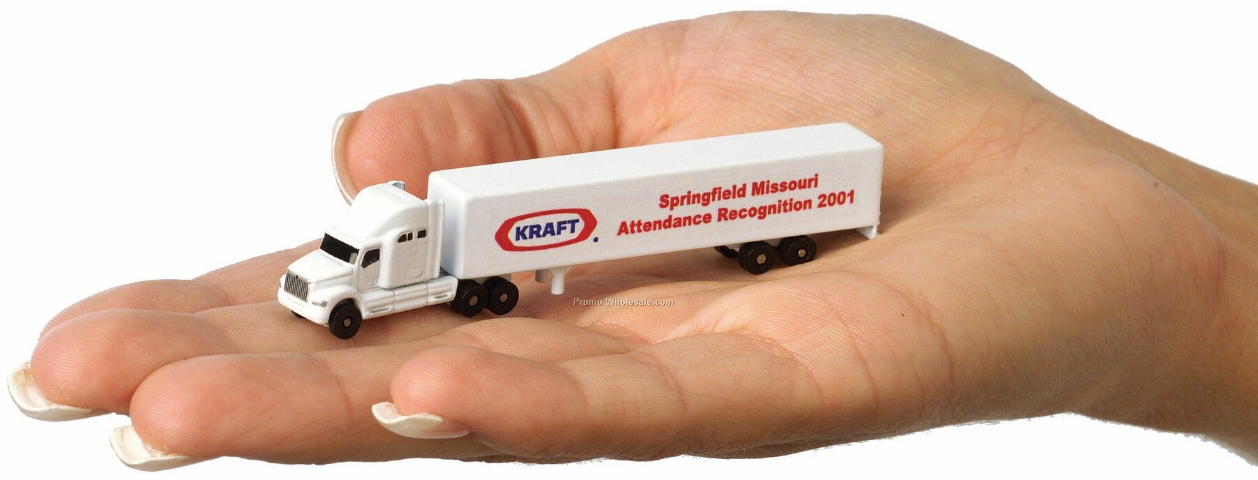 "3-1/2"" Die Cast Conventional Sleeper Truck With Trailer & Decal"