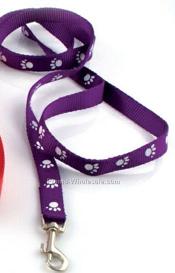 "3/4"" Screen Printed Dog Leash With 50 Day Shipping"