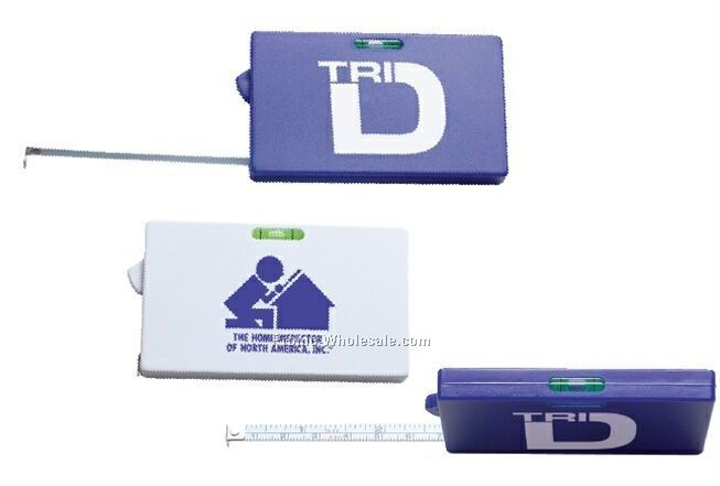 3' Rectangular Tape Measure With Level
